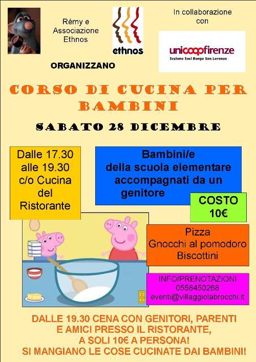 corso di cucina per bambini delle scuole elementari accompagnati da un genitore dal costo di 10 euro dalle 1930 per parenti e amici sar poi possibile